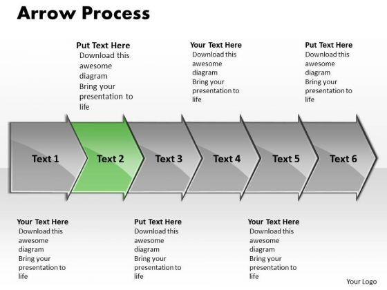 Editable Ppt Background Arrow Communication Process PowerPoint Presentation 6 Stages 3 Graphic
