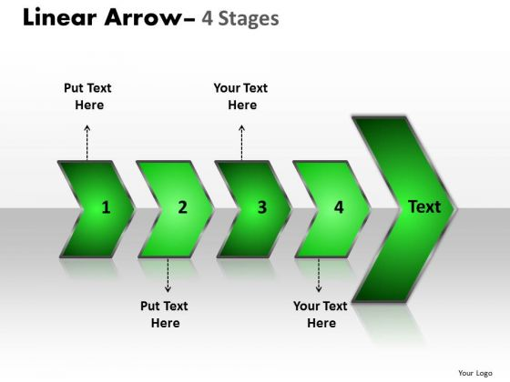 Editable Ppt Realistic Representation Of 4 Arrows Free PowerPoint Templates Graphic