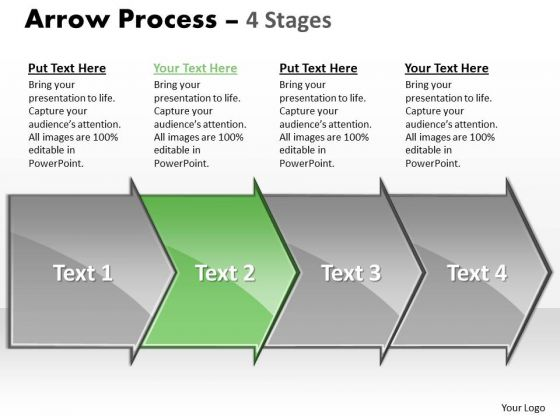 Editable Ppt Sequential Demonstration By 4 Arrows Business Communication PowerPoint 3 Image