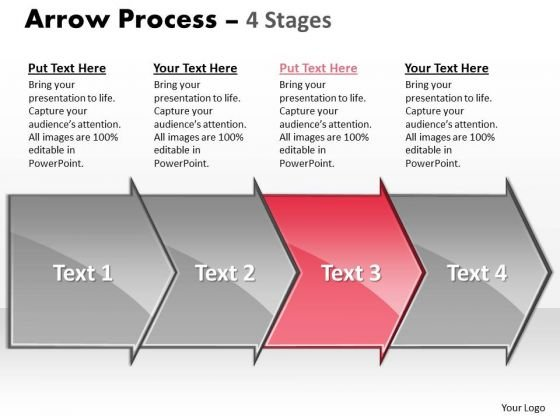 Editable Ppt Sequential Demonstration By 4 Arrows Business Communication PowerPoint Image