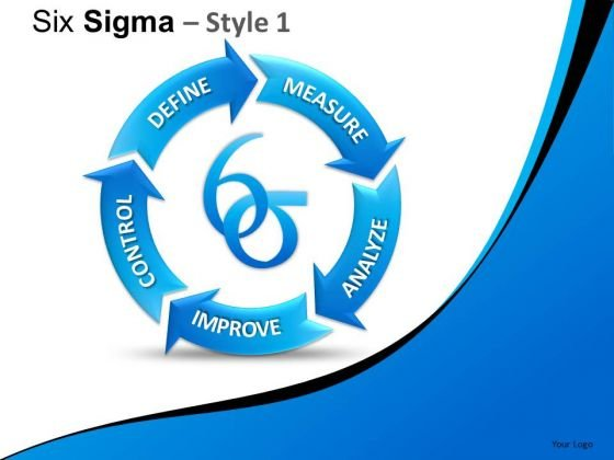 Editable Ppt Slides On Six Sigma Process PowerPoint Process Diagrams