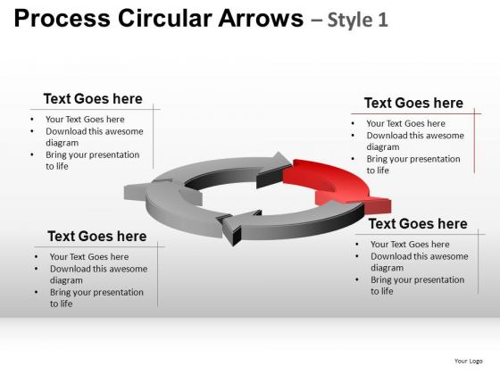 Editable Ppt Slides Process Circular Arrows PowerPoint Templates