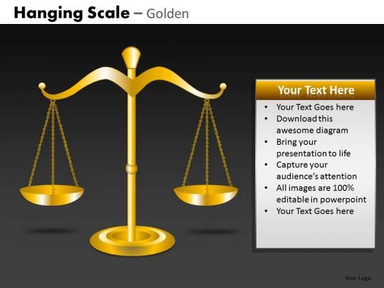 Editable Ppt Slides Weighing Scales Balance Concept