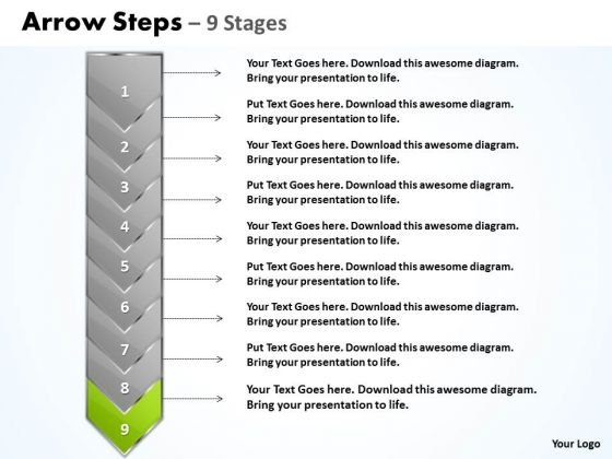 Editable Ppt Template Arrow 9 Power Point Stage Communication Skills PowerPoint 10 Graphic