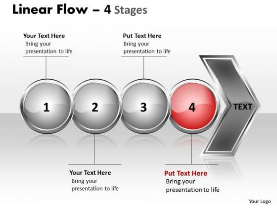 Editable Ppt Template Circular Flow Of 4 Stages Time Management PowerPoint 5 Image