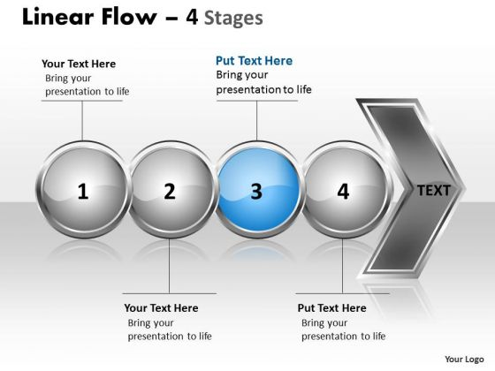 Editable Ppt Template Circular Flow Of 4 Stages Time Management PowerPoint Image