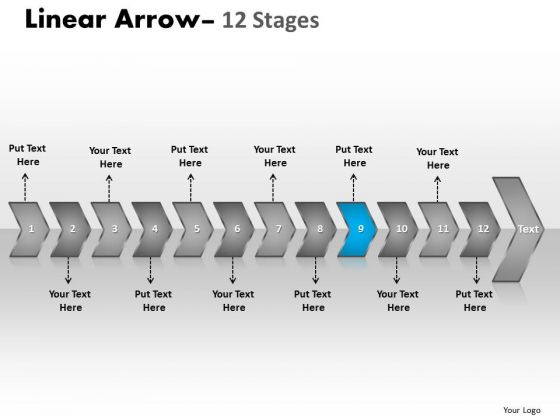 Editable Ppt Template Succedent Representation Of 12 Arrows 10 Image