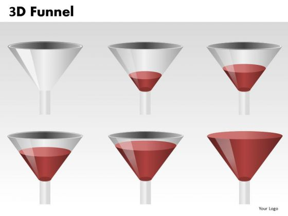 Editable Ppt Templates 3d Funnel Diagram Stages PowerPoint Slides