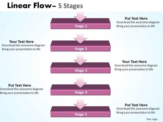 Editable Ppt Theme Hierarchical Model Of 5 Stages 1 Design