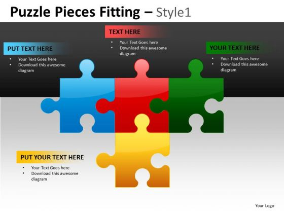 Editable Puzzle Diagram For PowerPoint Slides And Strategy Ppt