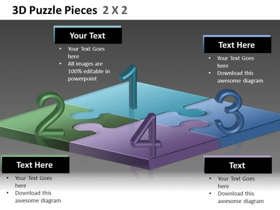 Editable Puzzles Ppt