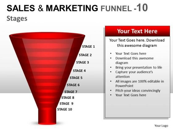 Editable Sales And Marketing Funnel 10 PowerPoint Slides And Ppt Diagram Templates