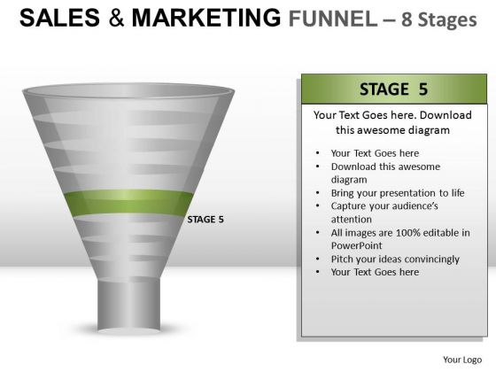 Editable Sales And Marketing Funnel 8 PowerPoint Slides And Ppt Diagram Templates