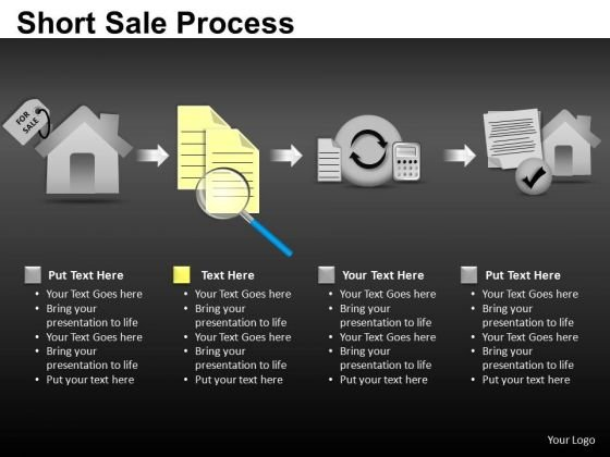 Editable Short Sale Process PowerPoint Slides And Ppt Diagram Templates