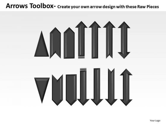Editable Single Arrows Toolbox PowerPoint Slides And Ppt Diagram Templates