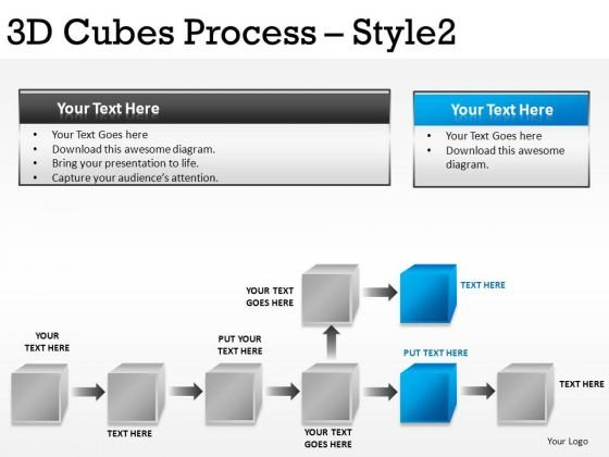 Editable Stages 3d Cubes Process PowerPoint Slides And Ppt Diagram Templates