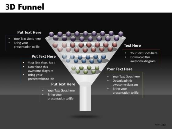 Editable Stages Funnel Diagram Graphic For PowerPoint Slides Ppt Templates