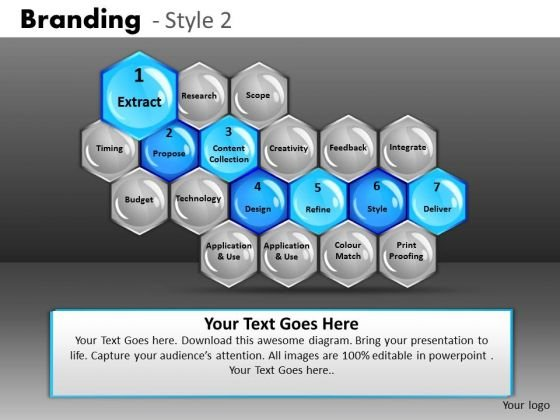 Editable Stages Hexagonal Process Diagram PowerPoint Slides Ppt Templates
