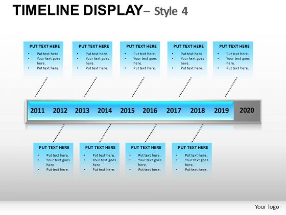 Editable Timeline Diagram For PowerPoint Slides