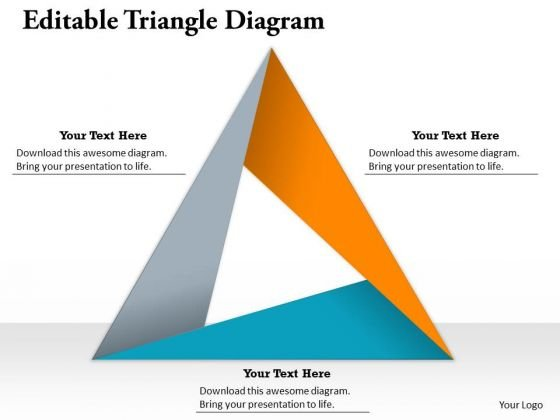 Editable Triangle Diagram PowerPoint Presentation Template