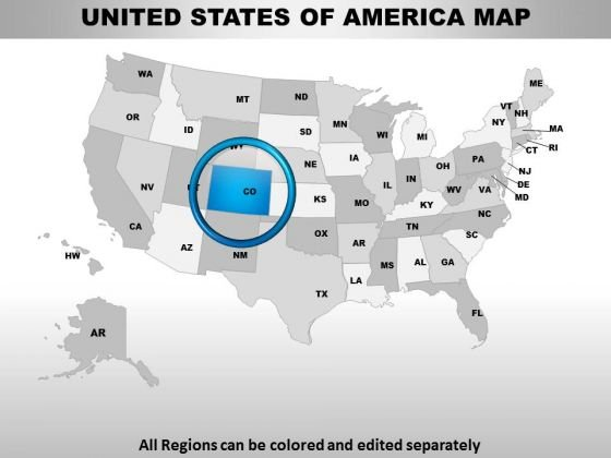 Editable Usa Colorado State PowerPoint Maps