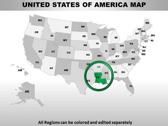 Editable Usa Louisiana State PowerPoint Maps