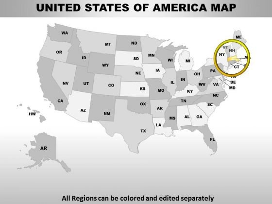 Editable Usa Massachusetts State PowerPoint Maps