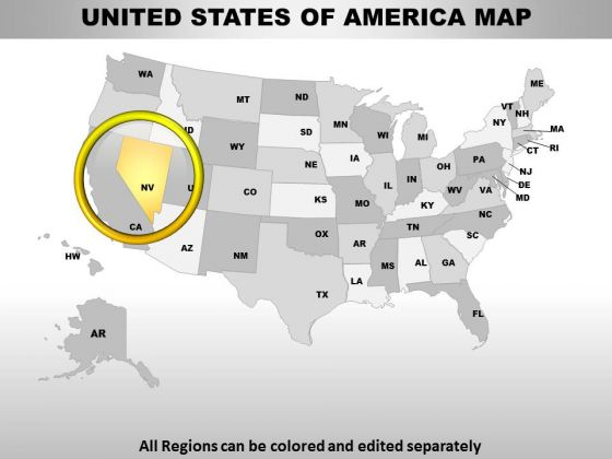 Editable Usa Nevada State PowerPoint Maps