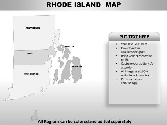 Editable Usa Rhode Island State PowerPoint Maps