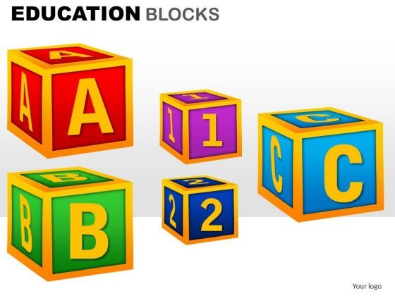 Education Alphabets Blocks Clipart Graphics Images For Ppt Slides