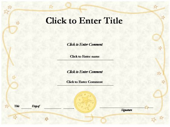 Education Award Certificate PowerPoint Templates