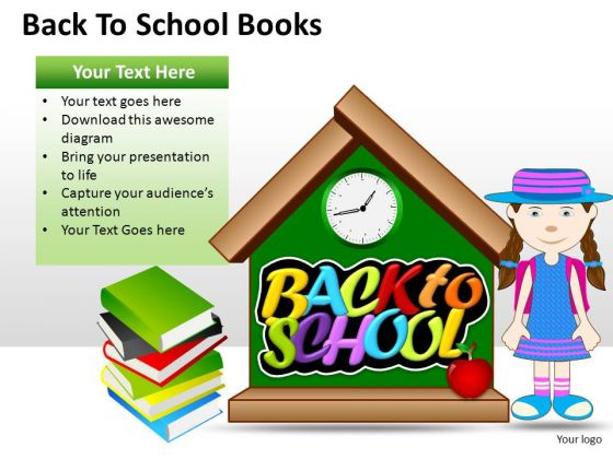 Education Back To School Books PowerPoint Slides And Ppt Diagram Templates
