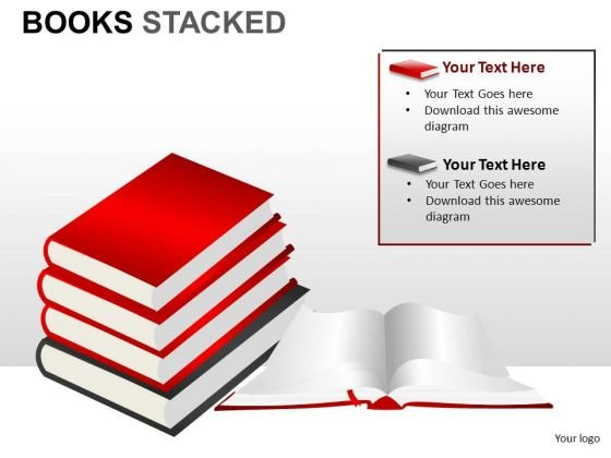 Education Books Stacked PowerPoint Slides And Ppt Diagram Templates