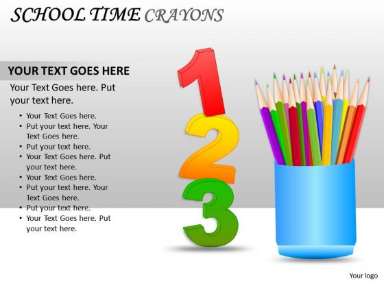 Education Kids School Time Crayons PowerPoint Slides And Ppt Diagram Templates