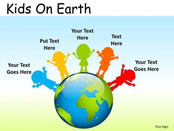 Education School Kids On Earth PowerPoint Slides And Ppt Diagram Templates