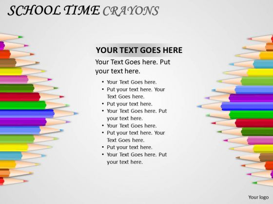 Education School Time Crayons PowerPoint Slides And Ppt Diagram Templates