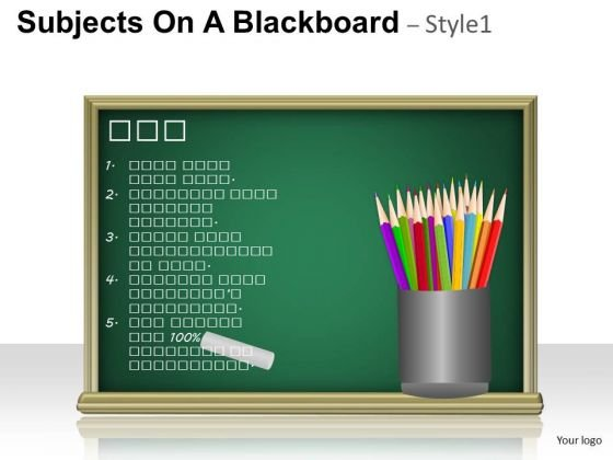Education Subjects On A Blackboard 1 PowerPoint Slides And Ppt Diagram Templates