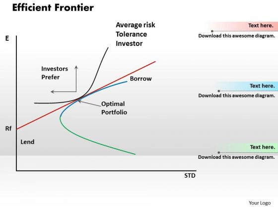 efficient frontier powerpoint templates, slides and graphics