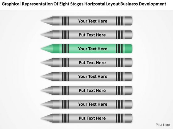 Eight Stages Horizontal Layout Business Development Ppt Easy Plans PowerPoint Slides