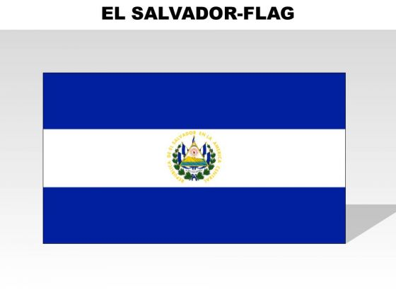 El Salvador Country PowerPoint Flags