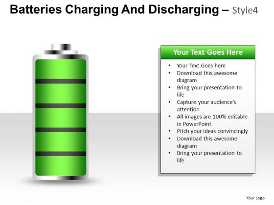 Electricity Batteries Charging 4 PowerPoint Slides And Ppt Diagramtemplates