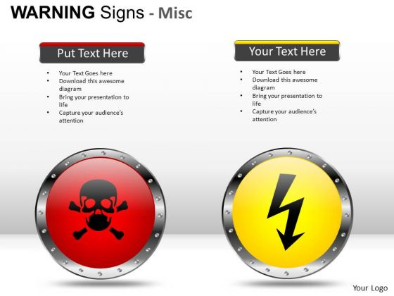 Electroshock Warning Signs PowerPoint Slides And Ppt Diagram Templates