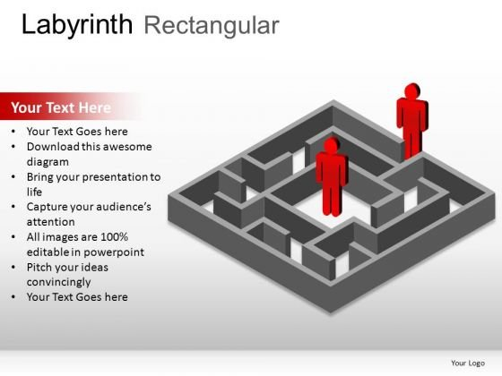 Element Labyrinth Rectangular PowerPoint Slides And Ppt Diagram Templates