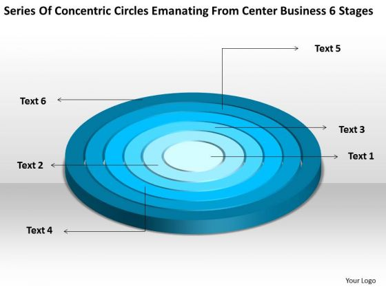 Emanating From Center Business 6 Stages Non Profit Plan Sample PowerPoint Templates