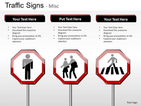 Emergency Traffic Signs PowerPoint Slides And Ppt Diagram Templates