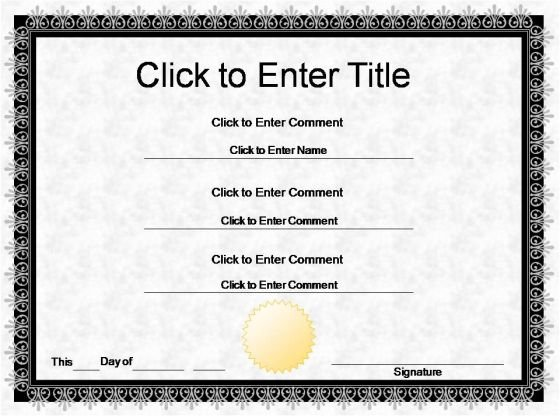 Employee Award Certificate PowerPoint Templates