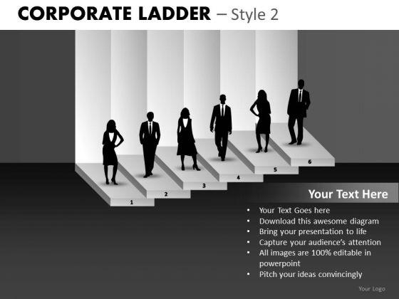 Employee Success Corporate Ladder PowerPoint Ppt Templates