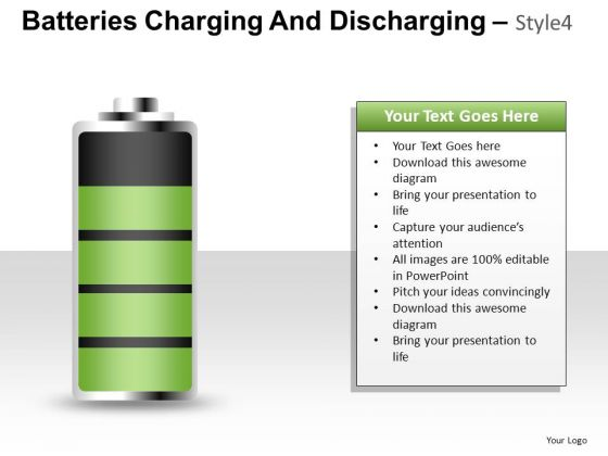 Energy Batteries Charging 4 PowerPoint Slides And Ppt Diagram Templates