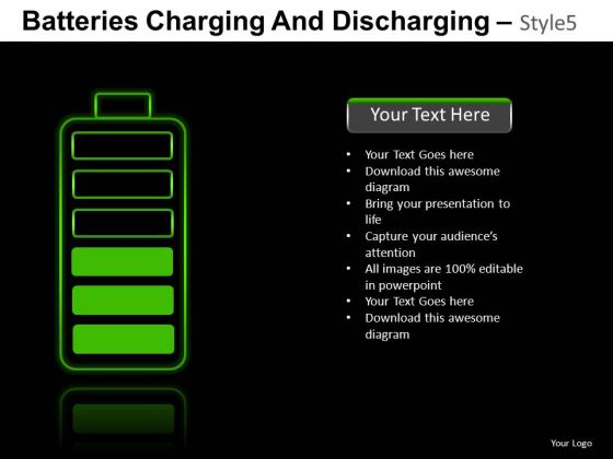 Energy Batteries Charging 5 PowerPoint Slides And Ppt Diagram Templates