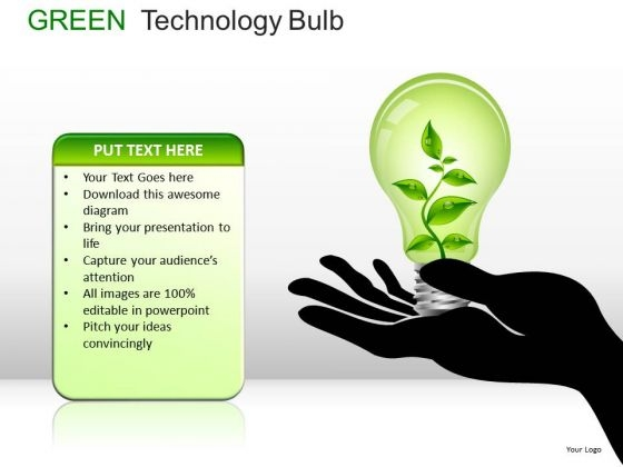 Energy Green Technology Bulb PowerPoint Slides And Ppt Diagram Templates